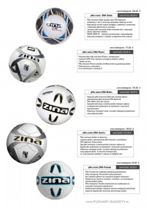 piłka nożna, piłki Zina, Soldar, Zina Phyton, Zina Madra, Zina Quattro, Zina Thunder