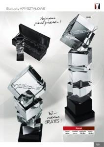 statuetka szklana, statuetki szklane, CX 055